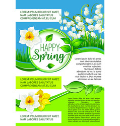 poster for spring holiday greetings vector image