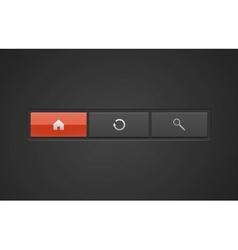 premium web buttons vector image