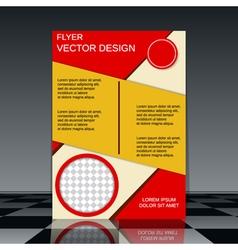 Professional flyer design template vector image