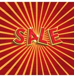 Red sale background vector image