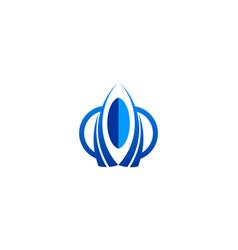 rocket shape logo vector image