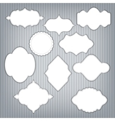 Set of frame with design vector image