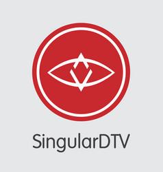 Singulardtv - cryptographic currency logo vector