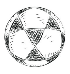 soccer ball sketch vector image