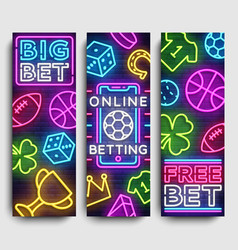 sports betting vertical banner design vector image
