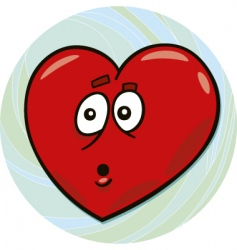 startled heart vector image