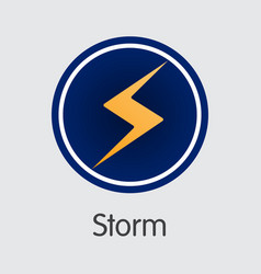 Storm crypto currency storm coin vector