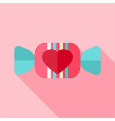 Sweet candy with heart vector