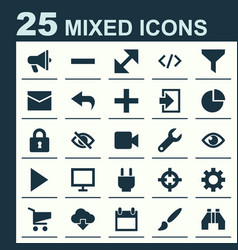 User icons set collection of plus return vector