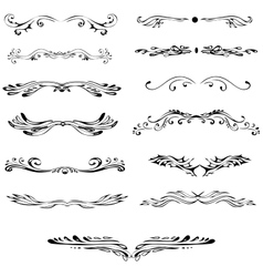 Vintage elements ornaments Graceful curls vector