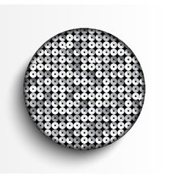 White circle on silver sequins background vector