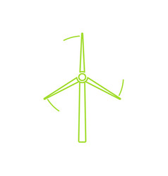 wind turbine tower linear icon design vector image