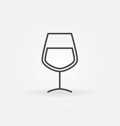 wine glass minimal icon vector image