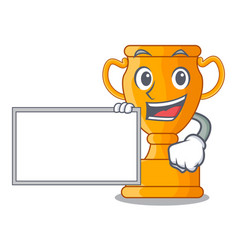 with board character gold trophy award for vector image