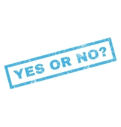 Yes Or No Question Rubber Stamp vector image
