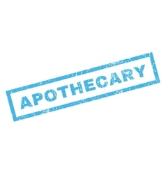 Apothecary rubber stamp vector