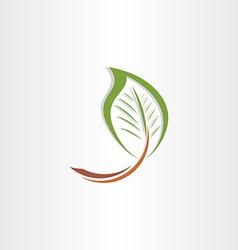 branch leaf eco symbol vector image