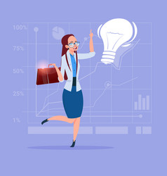 Business woman new creative idea concept with vector