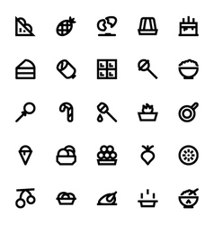 Food and drinks icons 5 vector
