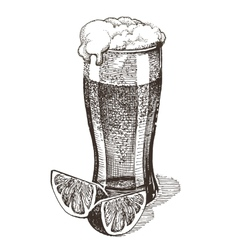 glass of beer logo design template alcohol vector image vector image