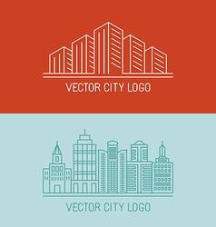 linear city logo concepts vector image vector image