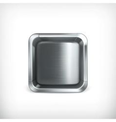 Metal box app icon vector image