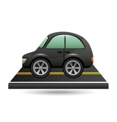 micro car on road design vector image vector image