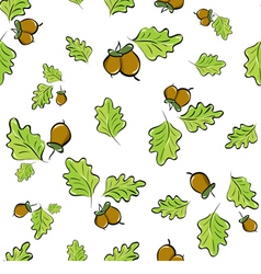 oak leaves and acorns vector image vector image