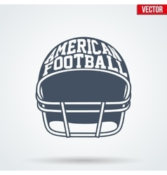 Sports symbol helmet of American football with vector image
