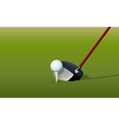 Golf Driver Club vector image