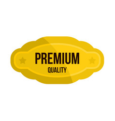 premium quality golden label icon flat style vector image vector image