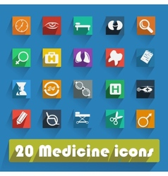 Set of flat Medical icons vector image