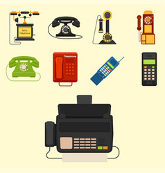 vintage phones retro lod telephone call vector image