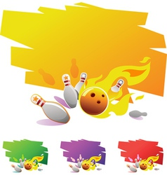 18 bouling notebookdesign element for bowling spor vector image vector image