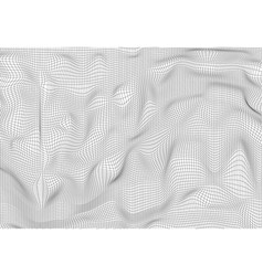 abstract polygonal wave wireframe background vector image