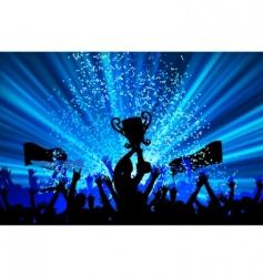 cheering crowd vector image vector image