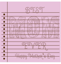 greeting card mother day theme collection vector image vector image