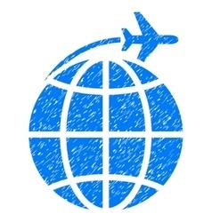 International Flight Grainy Texture Icon vector image