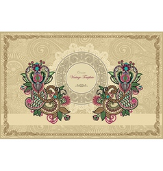 ornate floral carpet background with template vector image