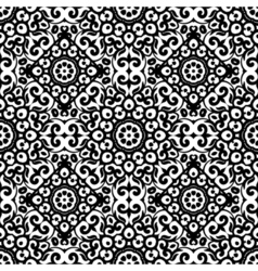 seamless pattern with black and white ornament vector image