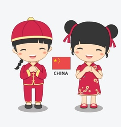 chinese-costume vector image