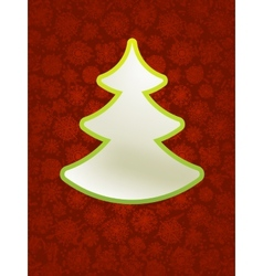 Christmas applique with tree EPS8 vector image