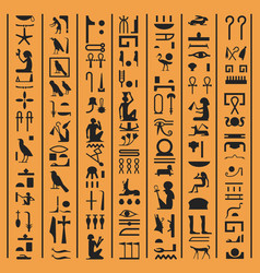 egyptian hieroglyphs or ancient egypt letters vector image