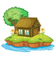 Island accommodation vector image vector image