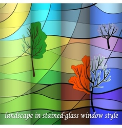 Landscape in four sesons vector