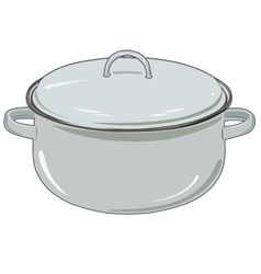 new pan for kitchen vector image vector image