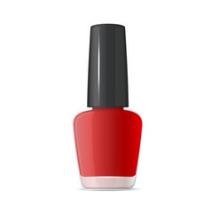 red nail polish bottle on white background vector image