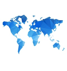 Triangular World Map file vector image