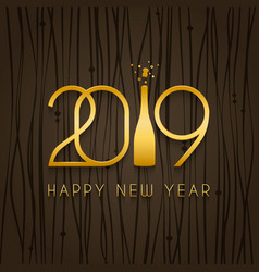 2019 happy new year design template vector