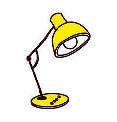 A view of desk lamp vector